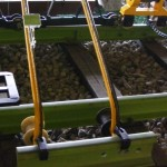 AYG single wheel rail delivery device for using in pairs delivering short rails down the track