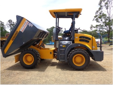 6 Ton front dumper with blade