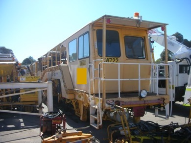 1993 Plasser 08-16B production tamper Rear of Machine